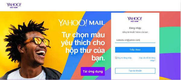 Đăng nhập Yahoo Mail
