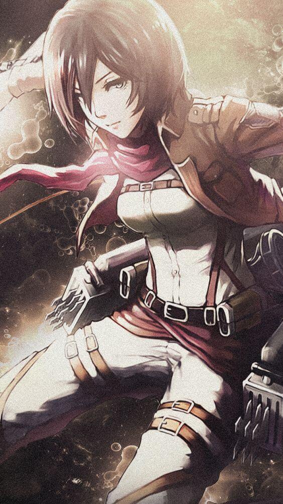 Cung Bao Binh Anime Mikasa Ackerman
