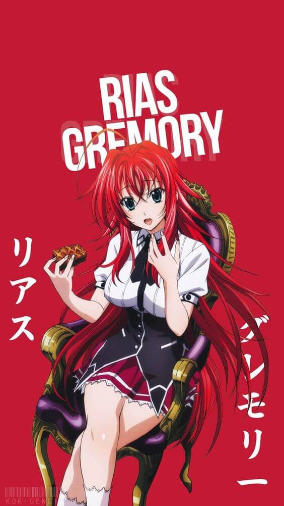 Rias Gremory Bach Duong Anime