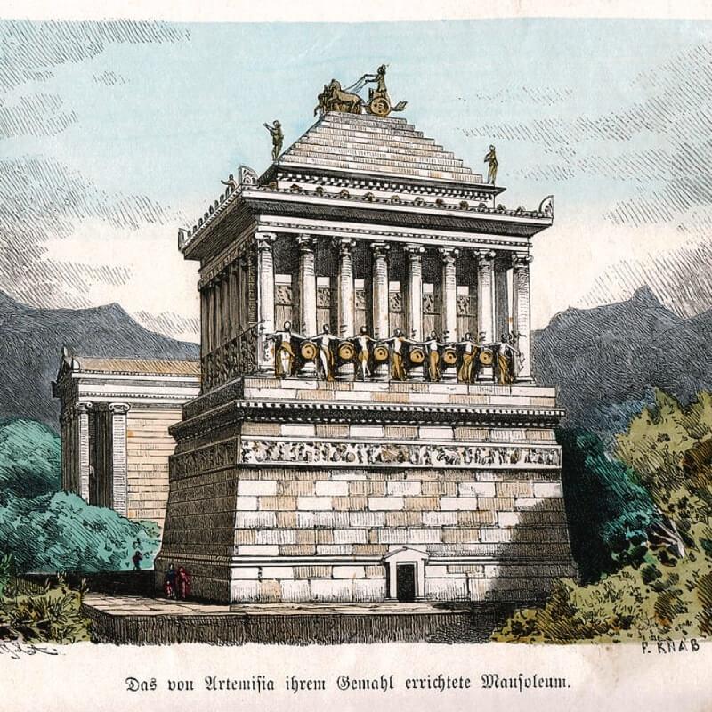 Lăng mộ của Mausolus ở Halicarnassus